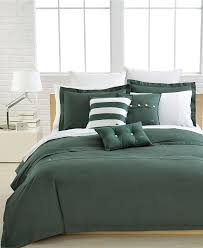 Lacoste Bedding Solid Green Brushed Twill forter and Duvet