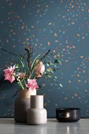 newroom vliestapete blau tapete leicht glänzend modern mustertapete metalic braun petrol konfetti grafisch für schlafzimmer wohnzimmer kinderzimmer