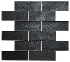 black slate mosaic kitchen backsplash tile modern mosaic tile
