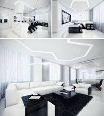 futuristische wohnlandschaft möbel modern white living