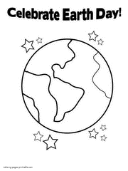 Earth Day Printable Coloring Pages Recycling