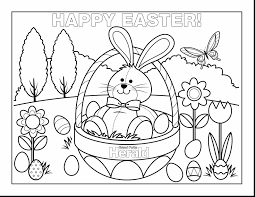 Spectacular Easter Coloring Pages With Free Printable And Bunny