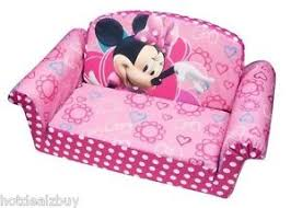 pink disney flip minnie mouse plush foam sofa bed bow tique couch