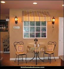 Cafe Style Bistro Decorating Ideas Faux Window Idea