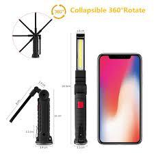 U20ac 999 50 De DESCUENTOPortable COB LED De Trabajo De Luz USB Recargable Mano Linterna Antorcha Inspección Lámpara Magnética Para La Reparación