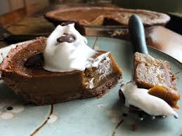 Pumpkin Pie Overnight Oats Rabbit Food by Chocolate Crusted Pumpkin Pie V Gf U2013 Bunny U0027s Bite