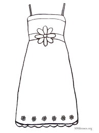 Dress Outline Coloring Pages