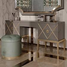 Art Deco Inspired Italian Designer 5 Drawer Dressing Table