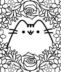 Kawaii Coloring Pages Cute Cat Colouring