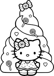 Coloriage Hello Kitty Noel Dessin à Imprimer Sur COLORIAGES Info