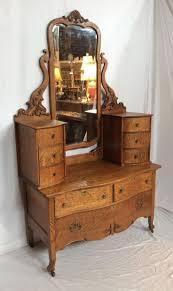 Vintage Tiger Oak Dresser by Tiger Oak Dresser With Mirror Oberharz