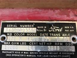 100 Ford Truck Forums 1960 F600 Vin And Data Plate Decode Ford Enthusiasts Forums