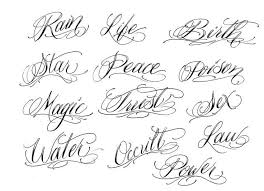 Awesome Tattoos Font Designs 23 With Additional Design Tattoo