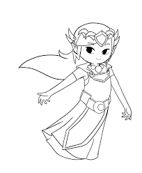 WW ST Zelda Lineart By Icy Snowflakes
