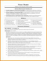 Human Resource Generalist Resume Samplehr Examples 22 Sample 2017 Resources Free Of Hr