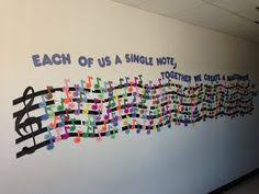 Awesome Bulletin Board From Musical Musings And Creative ThoughtsEach Of Us Is A Single Note