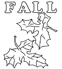 Coloring Pages Boy And Fall Leaves For Kids Autumn With
