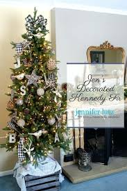 Decorated Fir 1 Kennedy Christmas Tree Narrow Led Artificial For
