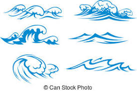 Aqua waves background Clipartby day 10 084 Ocean and sea waves set for design