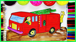 Coloring Pages Fire Truck - Coloring Book Videos For Children ...