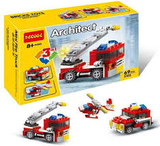 Decool Brick Toys Architect Series Mini Fire Truck, 69 Pcs - Best ...