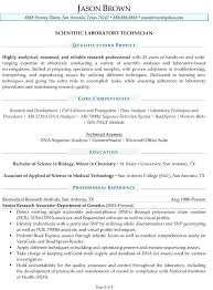 Scientific Resume Help Writer Sample