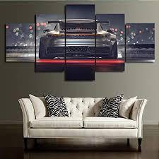 tkkxqt leinwanddrucke 5 stück auto malerei wohnzimmer hd poster wohnkultur wandkunst kein rahmen größe b