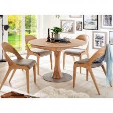 wöstmann rondo säulen esstisch rund massivholzausführung wählbar tisch optional mit einer klappeinlage