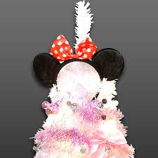 Minnie Mouse Christmas Special Disney Tree Set 90 Cm With Light White Xmas