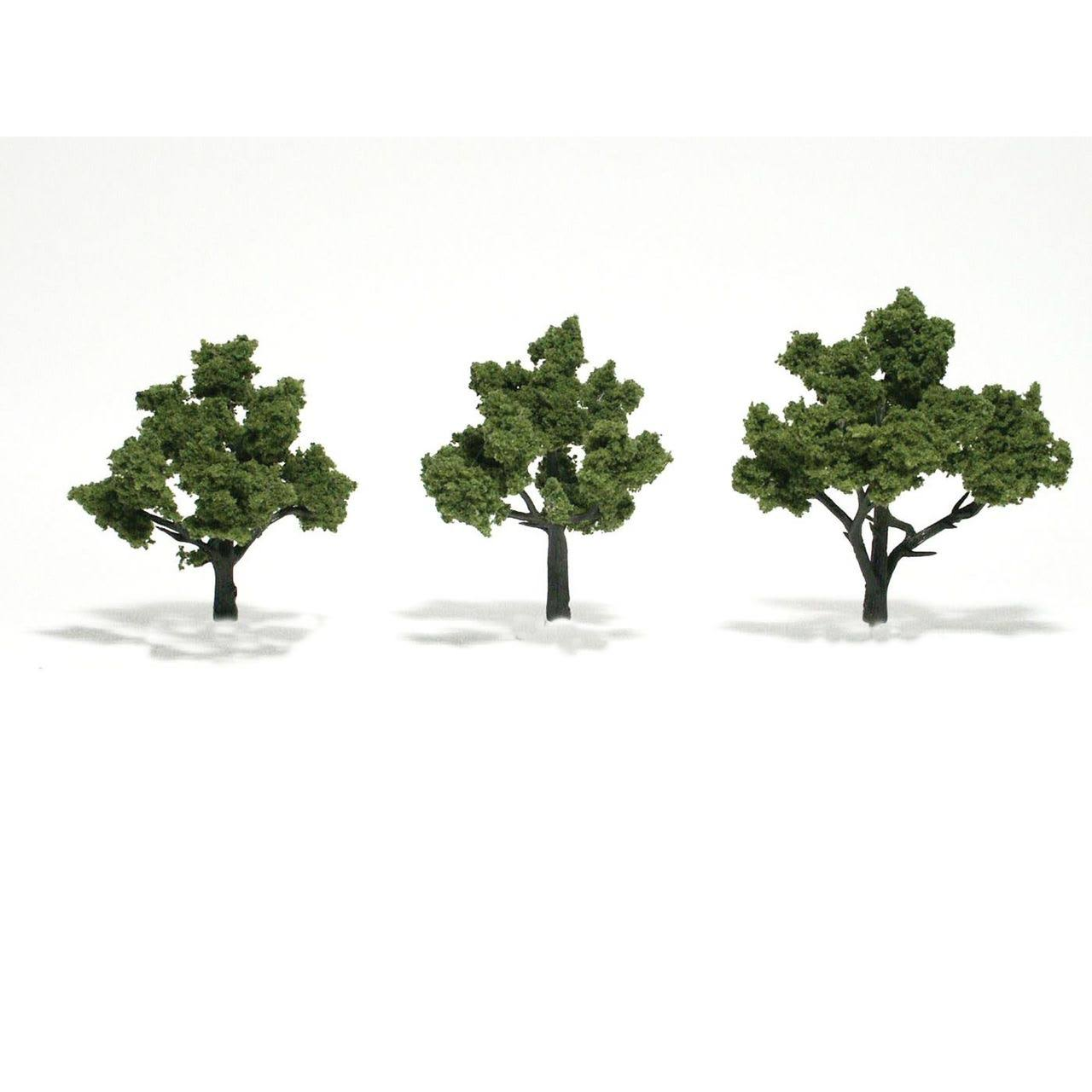 Woodland Scenics 3 Assembled Tree Light Green 3-4""