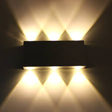 6w led wall light warm white 6led aluminum hallway wall l light