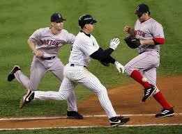 During Game 6 of the 2004 ALCS against the Red Sox Rodriguez hit a slow