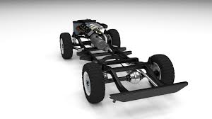 100 Truck Chassis Offroad 3D Model CGTrader