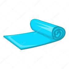 Yoga Mat Icon Cartoon Style Stock Vector