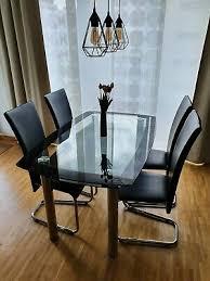 edel glastisch 4 stühle wie neu eur 798 00
