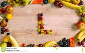 Fruits made letter L stock image Image of nature orange
