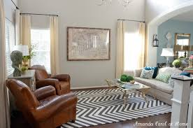 accessories fetching living room decoration using zigzag pattern