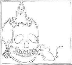 Free Skulls Coloring Pages