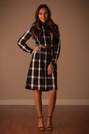 navy plaid fall dress affordable modest boutique clothes for