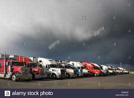 100 Flying J Truck Stop Near Me Semi Trucks And Dark Storm Clouds At Travel Plaza Pasco
