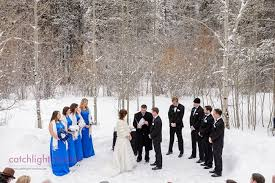 Bridal Party In Winter Wonderland At Warren Station Center For The Arts