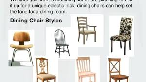 Types Of Dining Chairs Room Chair Styles