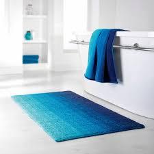 badteppich bio baumwolle blau