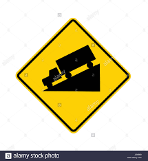 100 Truck Sign Road Sign Truck Downhill Stock Photo 143814365 Alamy