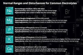 normal electrolyte levels ranges and disturbances ausmed