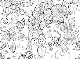 Flowers Coloring Pages For Adults Butterfly Pattern Stock Vector Pertaining To And Butterflies Free