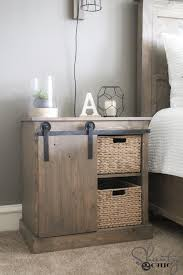 I Built A New Rustic Modern King Bed And Wanted Something Fun For My Nightstands Have Always Thought That DIY Barn Door Bathroom Cabinet Would Make