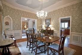 Traditional Dining Room With Wainscoting Chair Rail In