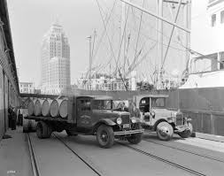 Central Transfer Trucks At Pier