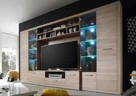 high wohnwand anbauwand wohnzimmerset eiche sonoma inkl beleuchtung günstig möbel küchen büromöbel kaufen froschkönig24